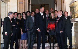 Los Príncipes de Asturias y los banqueros se citan en Londres