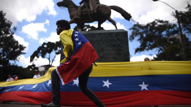 Protesta de Venezolanos en Guatemala. (EFE)