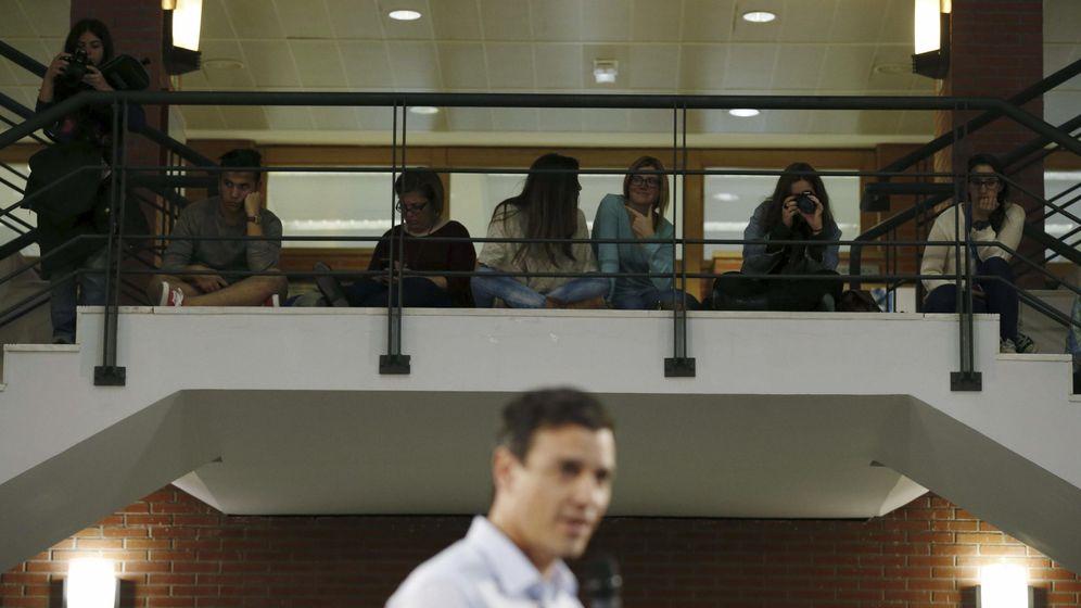 Foto: Pedro sánchez en la universidad carlos iii