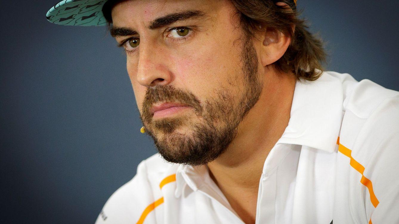 Foto: Fernando Alonso en la rueda de prensa del Gp de Bélgica. (Reuters)