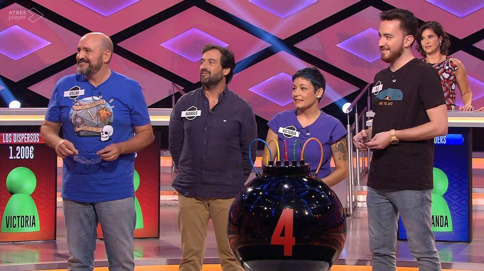 Foto: Los Dispersos en su primer día en '¡Boom!'. (Atresmedia Televisión)