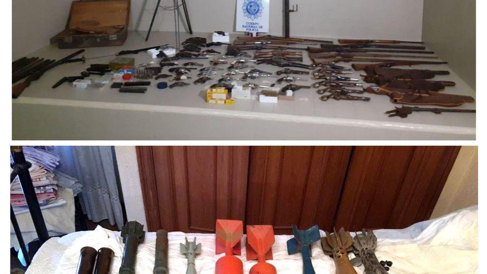 Encuentran un arsenal en la vivienda de un octogenario del centro de Palencia