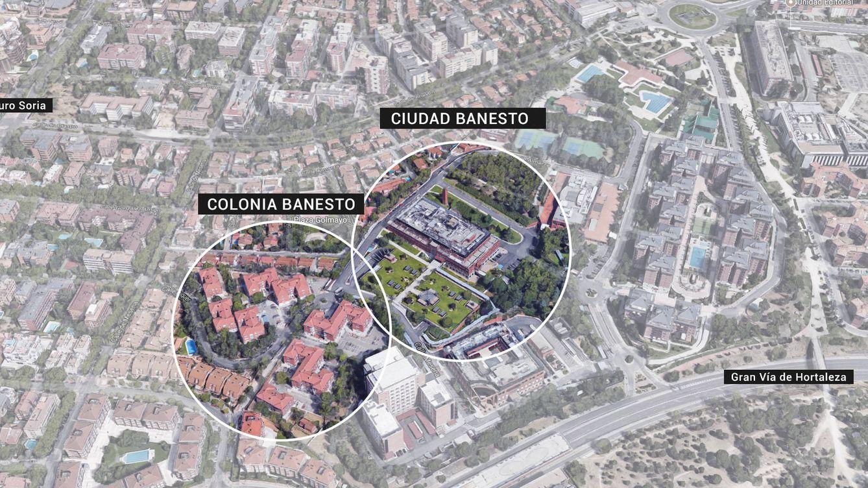 Foto: Ciudad Banesto, y la colonia de viviendas de empleados, está en una de las mejores zonas de Madrid.