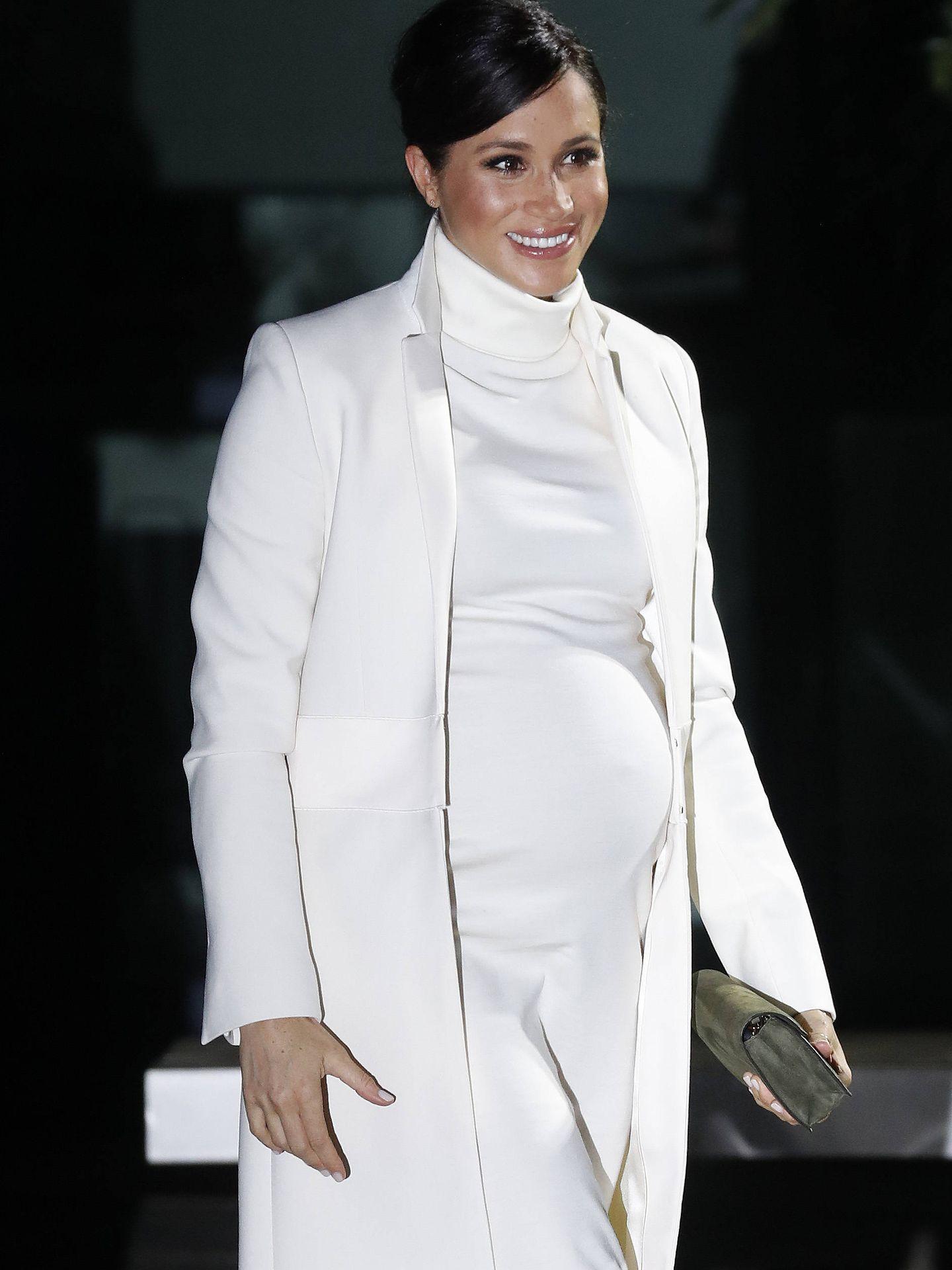 Meghan Markle, radiante en su embarazo.  (Getty)