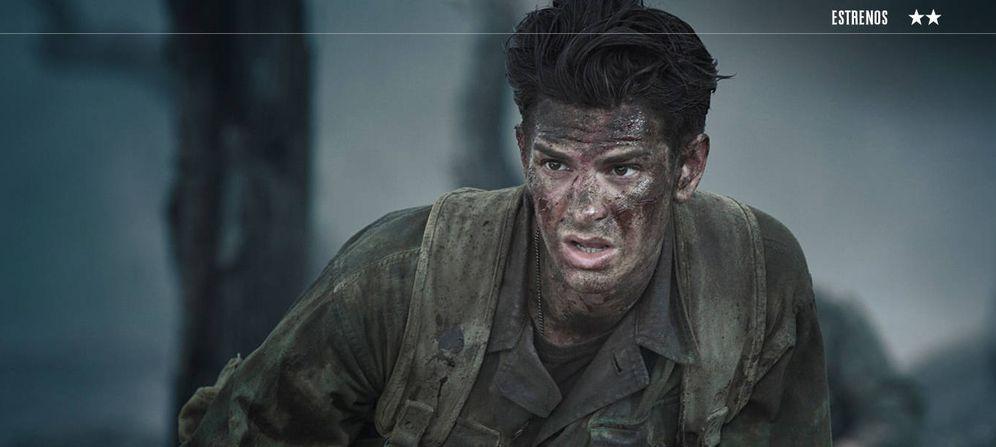 Foto: Andrew Garfield en un fotograma de 'Hasta el último hombre'