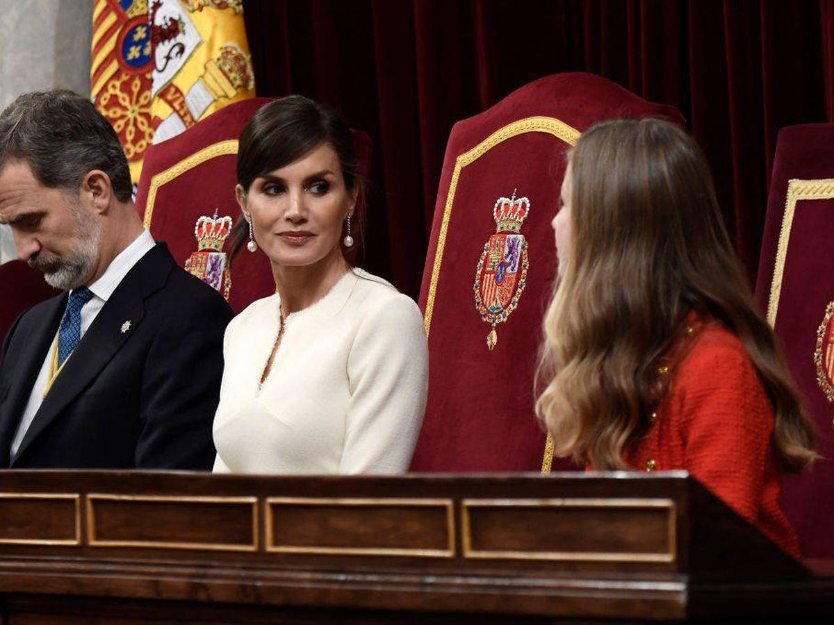 Foto: Los Reyes, en el Congreso de los Diputados. (Getty)
