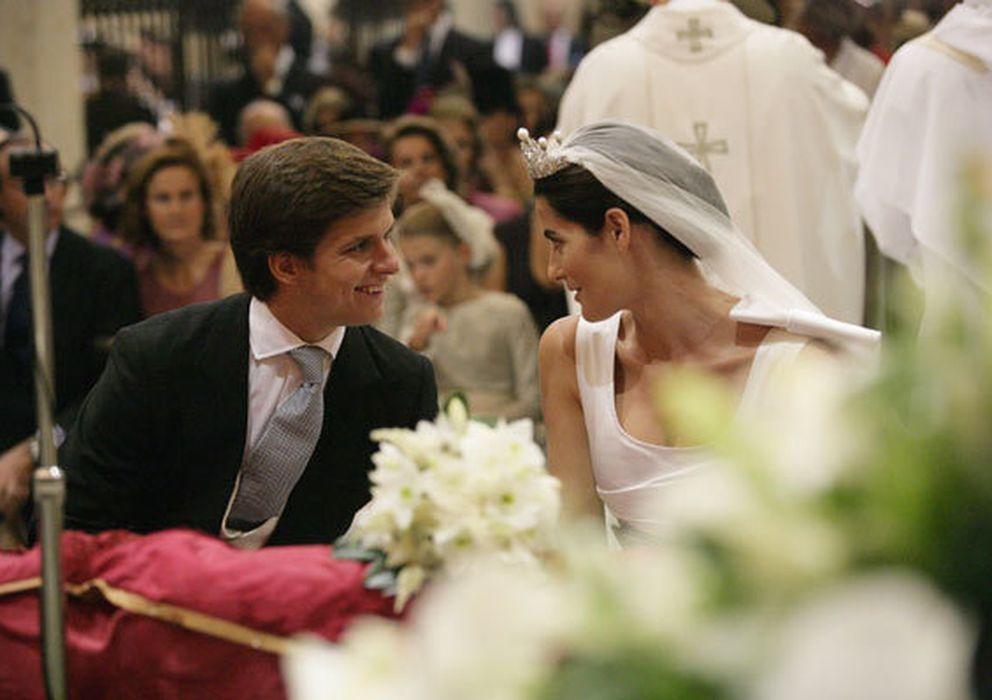 Foto: Julián López El Juli y su mujer, Rosario Domecq, el día de su boda (I.C.)