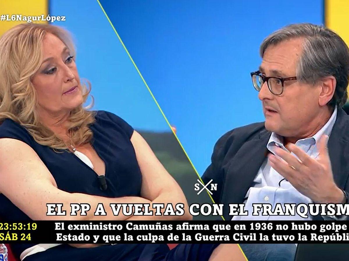 Foto: Elisa Beni y Francisco Marhuenda, en 'La Sexta Noche'. (Atresmedia)