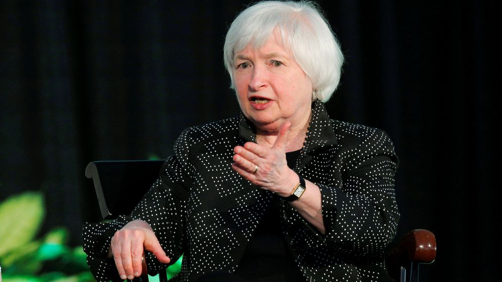Foto: Janet Yellen en su intervención en la Universidad de Harvard. (Reuters)