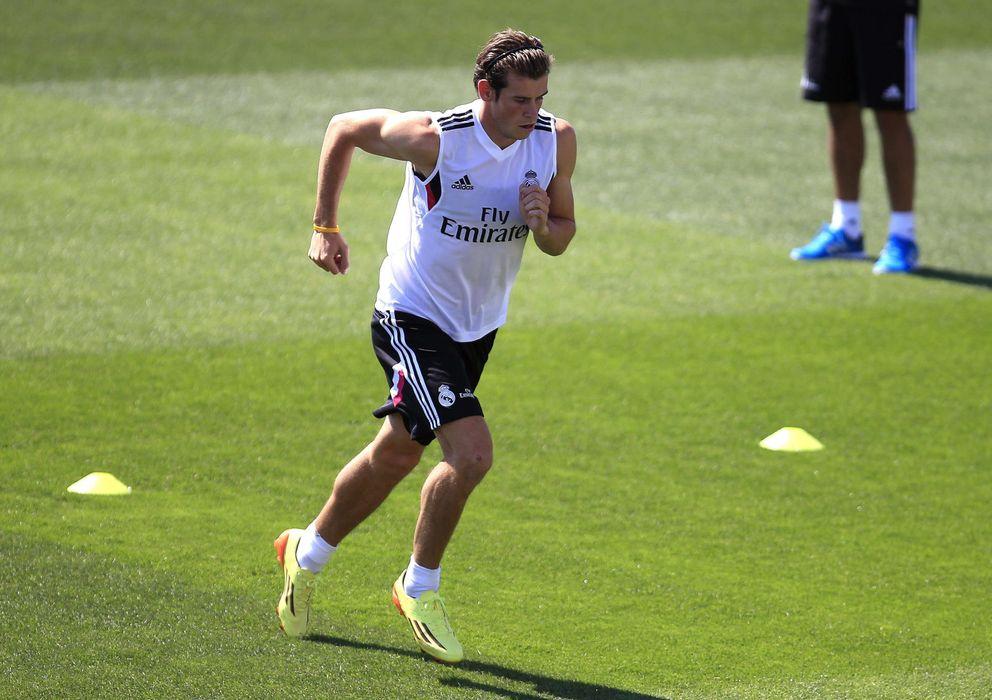 Foto: Gareth Bale, en un entrenamiento durante la presente temporada con el Real Madrid.