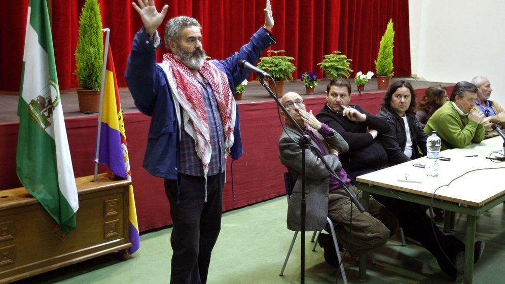 Foto: El alcalde de Marinaleda (Sevilla), Juan Manuel Sánchez Gordillo. (EFE)