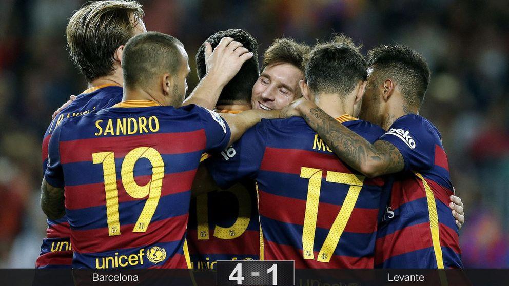 Bartra sacó del atasco a un Barça que se llevó el partido cuando quiso Messi