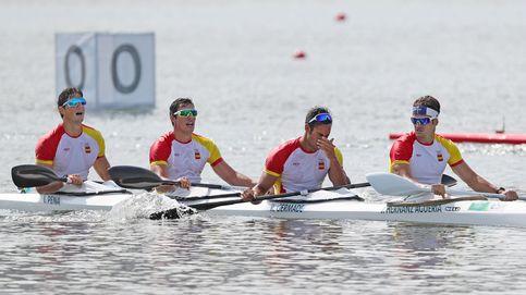 El K4 1000 de España se tiene que conformar con el diploma olímpico