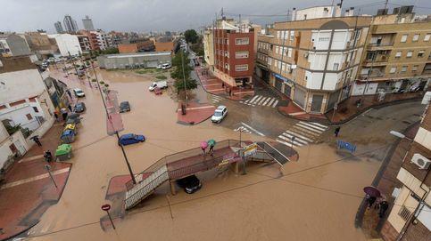 Las lluvias inudan el Levante y Murcia, en imágenes