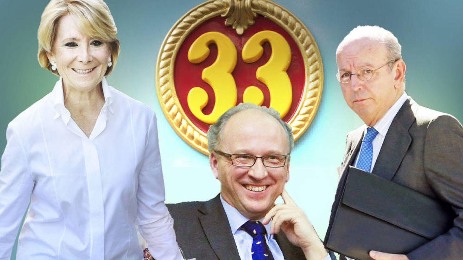 Foto: Algunos de los expolíticos que se benefician del 'nivel 33'. (EC)