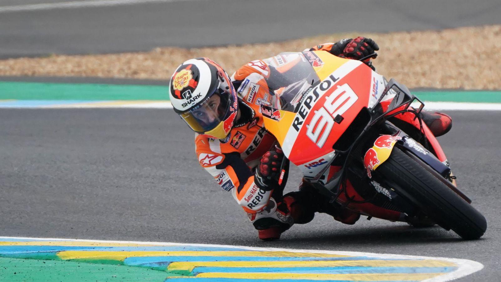 Foto: Jorge Lorenzo, este domingo en Le Mans. (EFE)