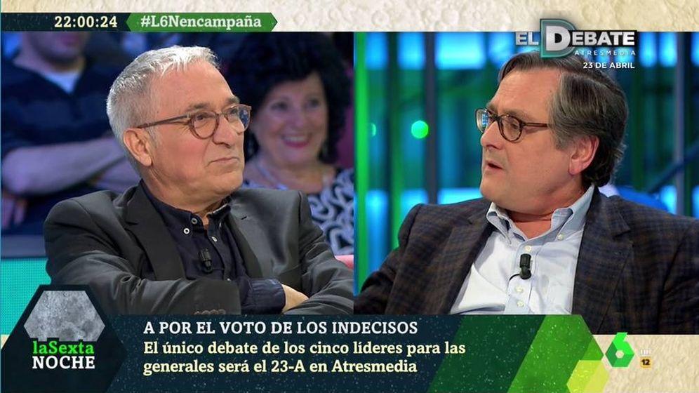 Foto: Xavier Sardà y Francisco Marhuenda, en 'La Sexta noche'. (Atresmedia).