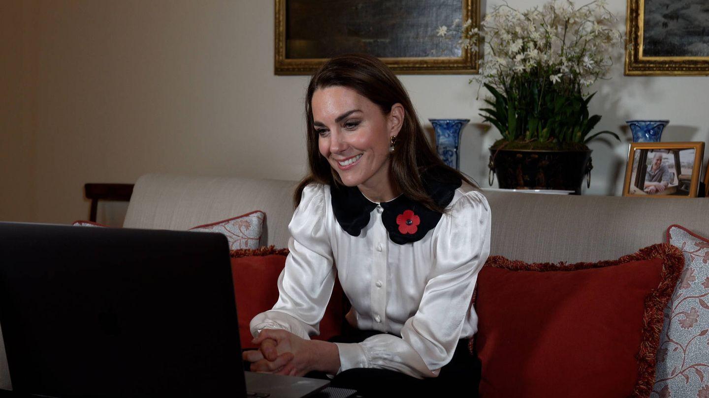 Kate Middleton, durante la videollamada. (Palacio de Kensington)