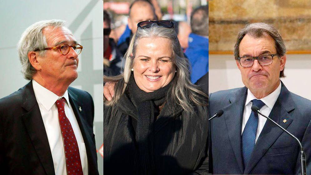 Foto:  Xavier Trias, Maite Fandos y Artur Mas en un montaje de El Confidencial.