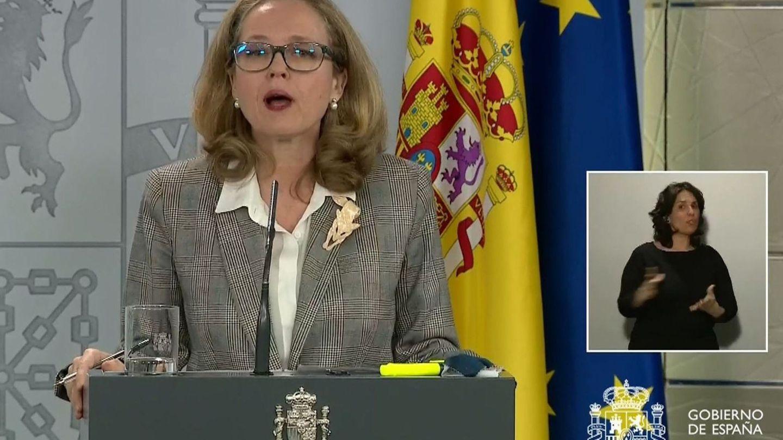 La vicepresidenta del Gobierno Nadia Calviño. (EFE)