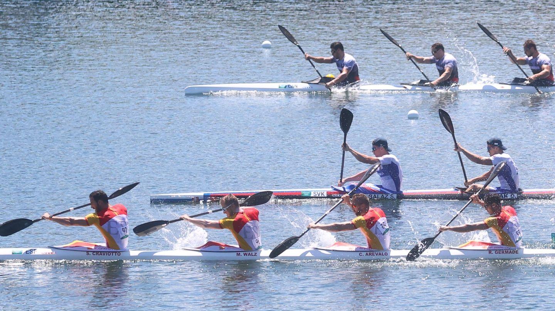 El equipo español K4 500. (Reuters)