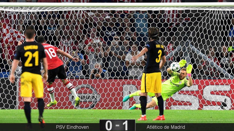 Foto: Oblak detiene el penalti a Guardado (Toussaint Kluiters/Reuters).