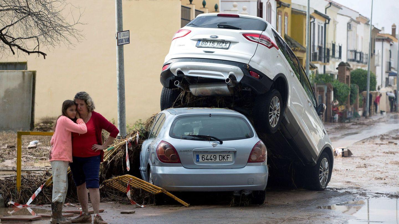 Inundaciones en Málaga. (EFE)