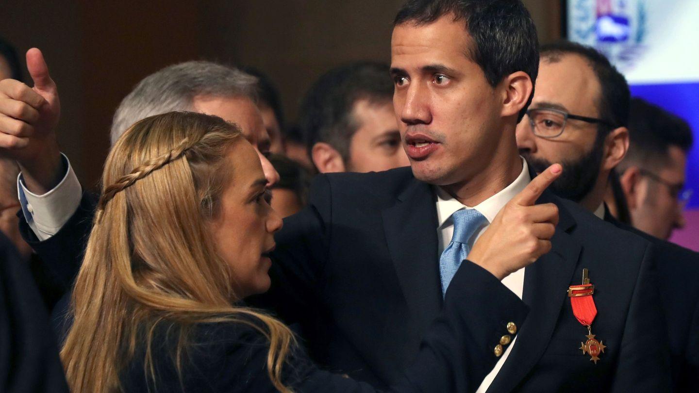 El presidente de la Asamblea Nacional de Venezuela, Juan Guaidó, junto a Lilian Tintori, el pasado mes de enero en Madrid. (EFE)