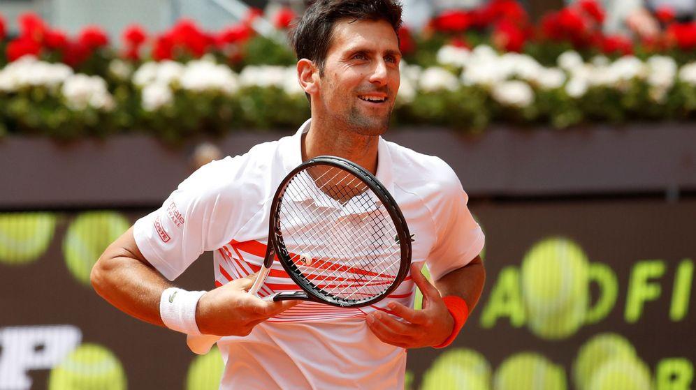 Foto: Novak Djokovic, tras ganar su partido contra Taylor Fritz en la central del Open de Madrid. (EFE)