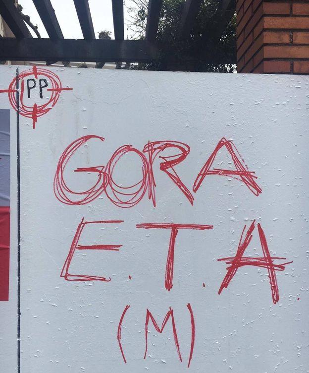 Foto: La pintada aparecida este martes en Erandio. (PP)