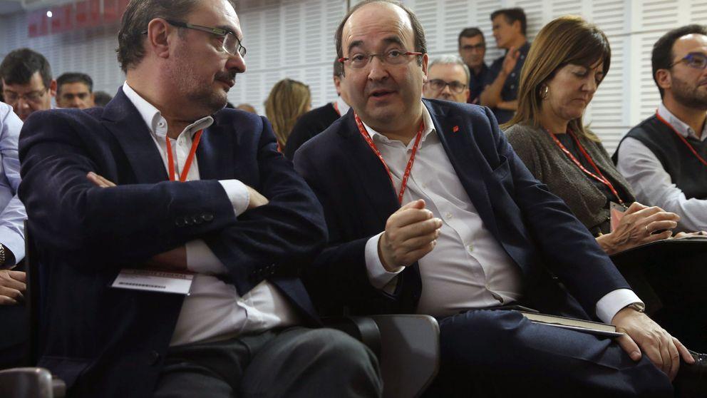 Page y Lambán se enzarzan con Iceta por ERC: De España hablan todos los españoles
