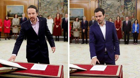 ¿Qué significa el pin con el que Pablo Iglesias y Alberto Garzón han prometido su cargo?