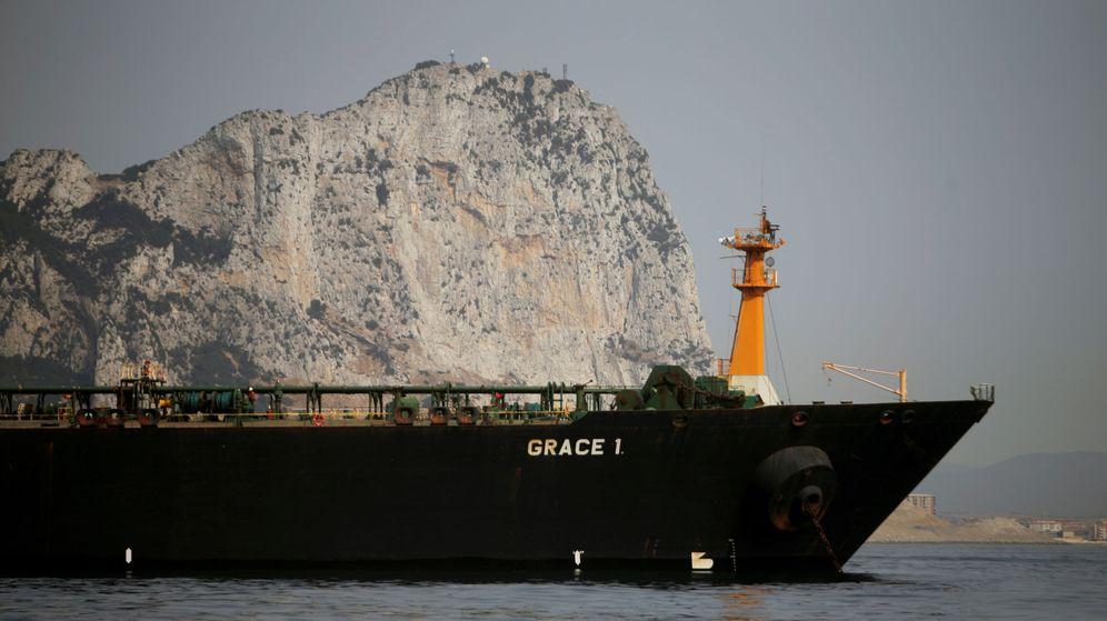 Foto: La embarcación iraní Grace 1, frente a Gribraltar. (Reuters)
