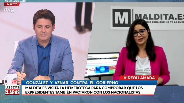 Jesús Cintora, en 'Las cosas claras'. (RTVE).