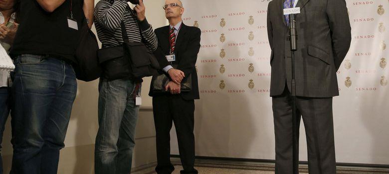 Foto: El ministro de Educación, José Ignacio Wert, durante la rueda de prensa (Efe)