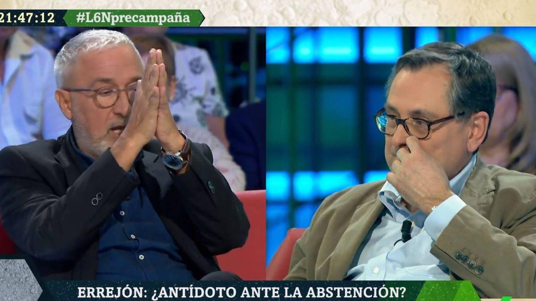 Sardà y Marhuenda discutiendo en 'La Sexta noche'. (Atresmedia).