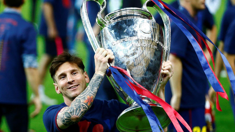 Messi en 2015, cuando ganó su última Copa de Europa. (Reuters)