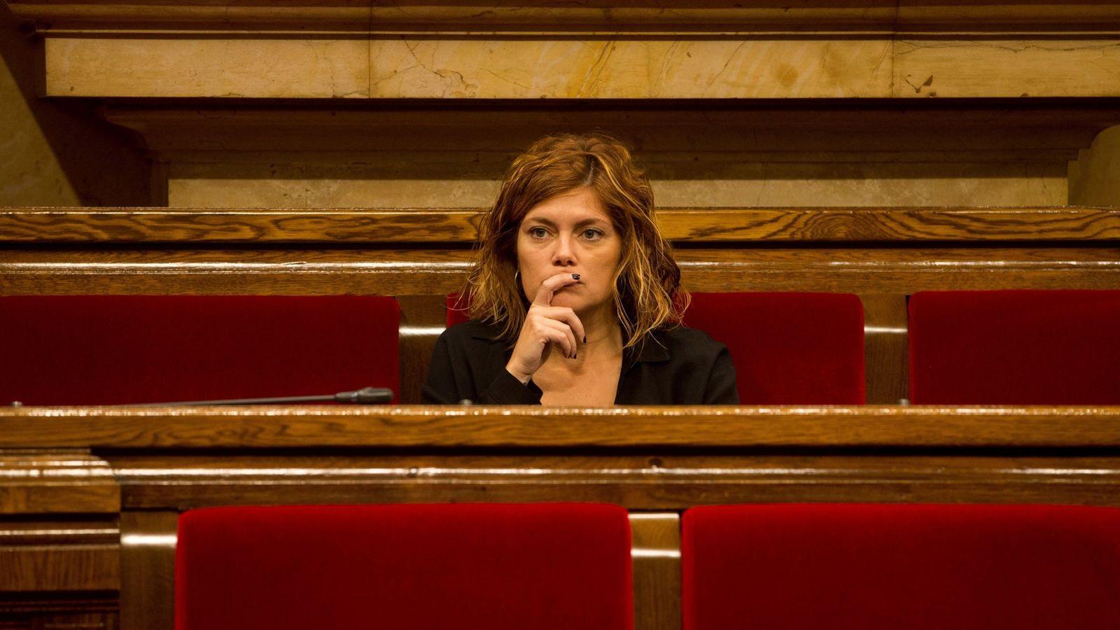 Foto: La exportavoz Catalunya en Comú Podem, Elisenda Alamany. (EFE)