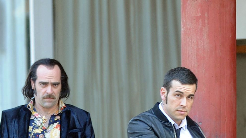 Mario Casas y Luis Tosar en el rodaje de 'Toro'