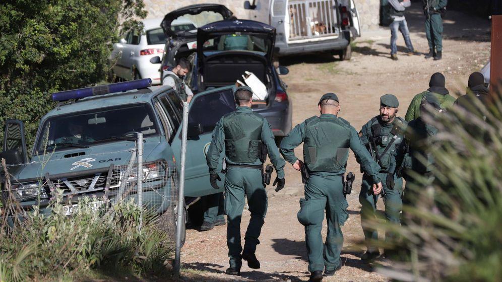 Foto: Operativo de la Guardia Civil en Andalucía (Efe)