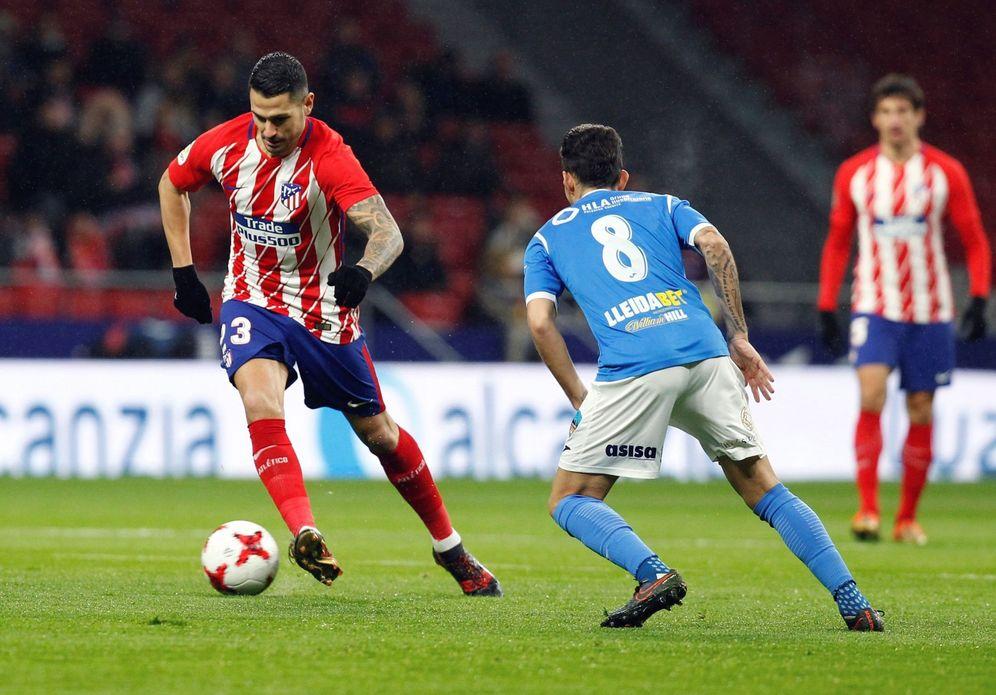 Foto: En la imagen, Vitolo durante el Atletico Madrid-Lleida. (EFE)