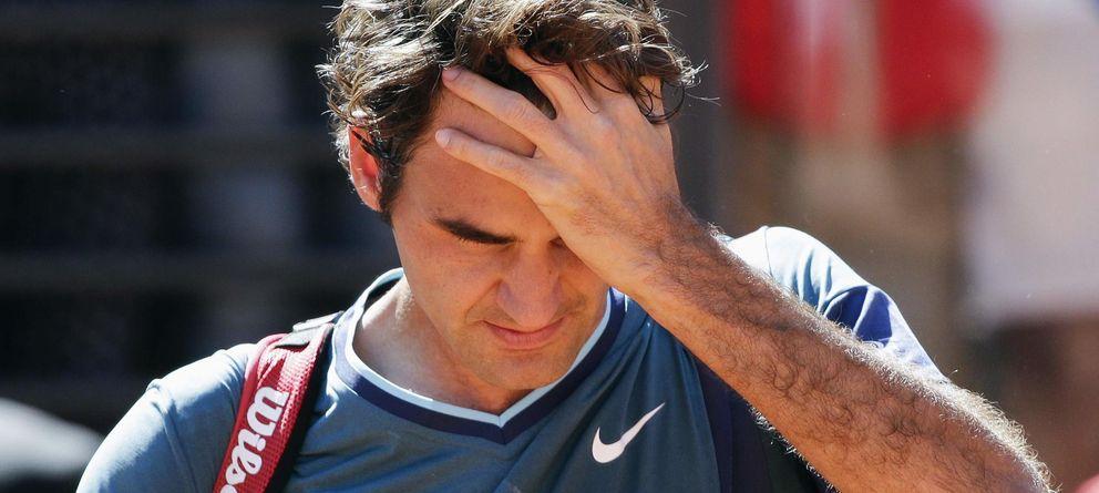 Foto: Roger Federer tras perder en Roma (Reuters).