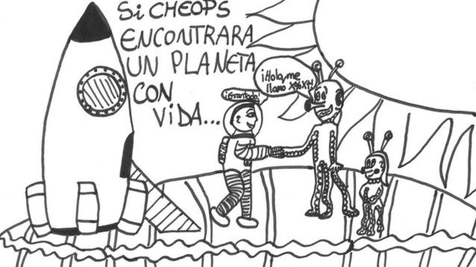 Astronomía Dibujos De Niños Españoles Viajarán Al Espacio En Busca