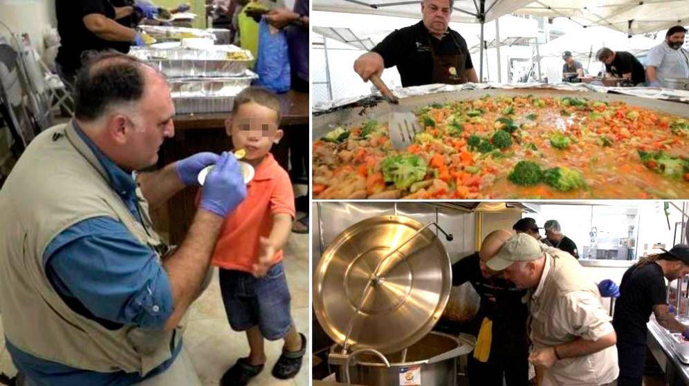 Foto: José Andrés cuenta con un gran equipo de chefs y voluntarios. (CBS)