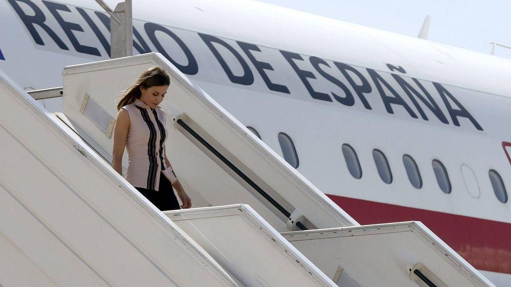 Foto: Letizia llega a Puerto Príncipe.