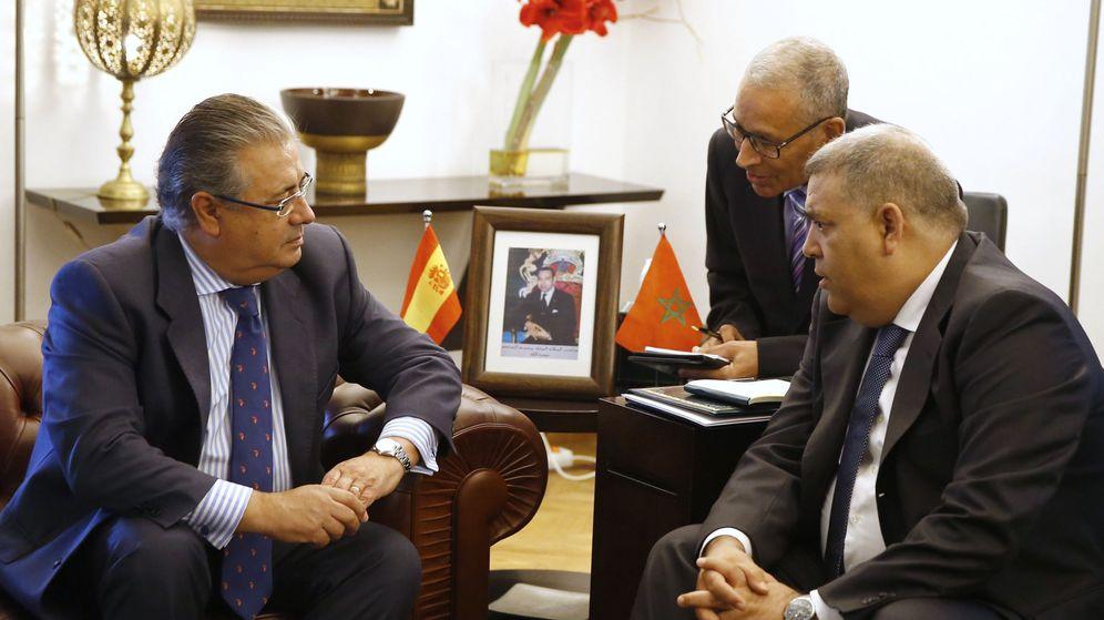Foto: El ministro del Interior, Juan Ignacio Zoido, durante el encuentro en Rabat. (EFE)