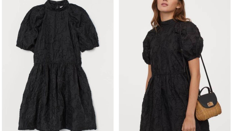 El vestido negro de HyM. (Cortesía)