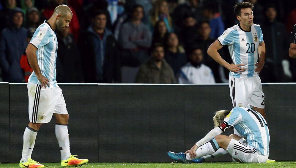 Foto: Messi se resintió de sus problemas en el pubis durante el partido que enfrentó a Argentina y Uruguay (Reuters)