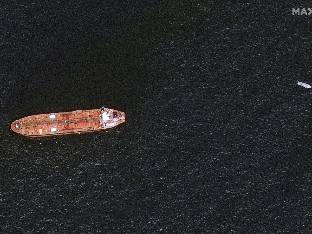 Foto: Imagen de satélite del buque Mercer Street. (Reuters)