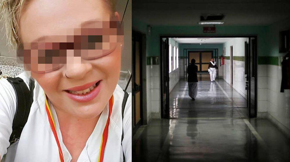 Foto: Beatriz L.D. y un pasillo de hospital. (Foto: Reuters)